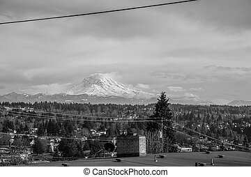 Peak From Des Moines 5 - A view of Mount Rainier from Des ...