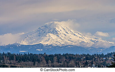 Peak From Des Moines 6 - A view of Mount Rainier from Des ...