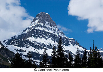 Photo of a sharp peak at Glacier National Park in Montana