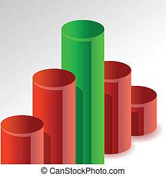 peak graph illustration design
