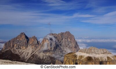 Peak in Italian Alps - time-lapse