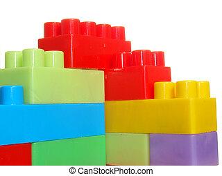 Peak made of the color bricks