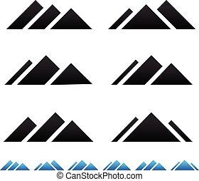 Peak, mountain pictogramms
