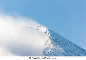 Peak of Fuji mountain.