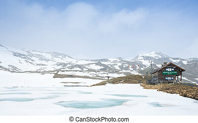 peak of Grossglockner High Alpine Road, Carinthia and East Tyrol, Austria