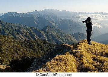 peak., standed, kameramann, kugel