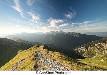Tatra Mountains during sunrise