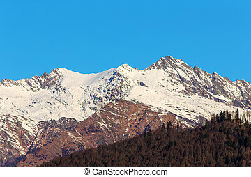 Caucasus Mountains in sunny day