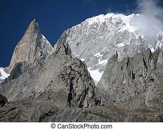 Peaks of the Karakoram range, as seen from Karimabad