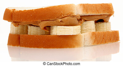 Peanut Butter and Banana - Peanut butter and banana sandwich...