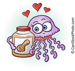 Peanut Butter and Jelly Fish - A cute purple jelly fish in ...