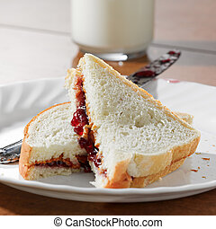 Peanut butter and jelly sandwhich