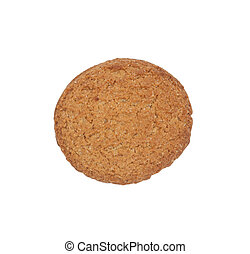 Peanut Butter Cookie Isolated on White Background