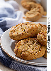 Peanut Butter Cookies on a Plate