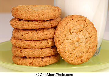 Peanut butter cookies - Stacked peanut butter cookies