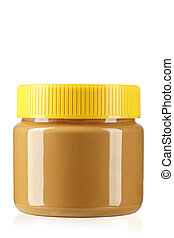 peanut butter isolated in jar