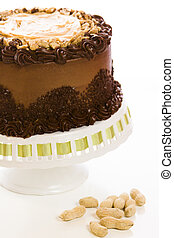 Peanut butter mousse cake