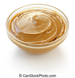 peanut butter - on a white background