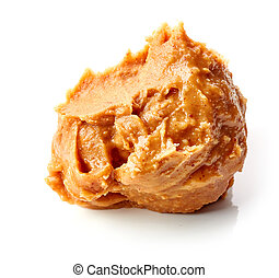 peanut butter on white background
