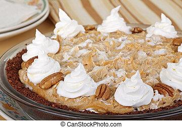 Peanut Butter Pie Closeup