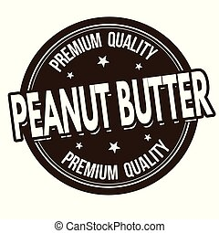 Peanut butter sign or stamp on white background, vector...