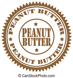 Peanut Butter-stamp - Rubber stamp with text Peanut...