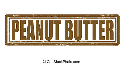 Stamp with text peanut butter inside, vector illustration