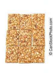 peanut candy on white background