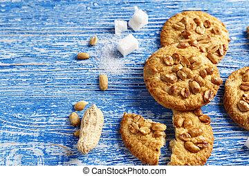 peanut cookies on the table