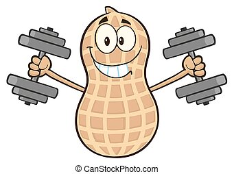 Peanut Training With Dumbbells