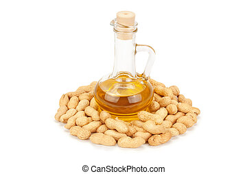 peanuts and oil in bottle