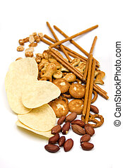 Peanuts and salty snacks - Roasted peanuts and salty snacks...