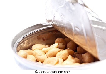Peanuts in a can