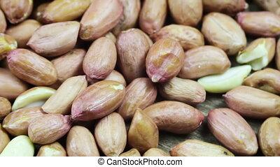 Peanuts in the Peel Rotates - Peanut rotates on the table....