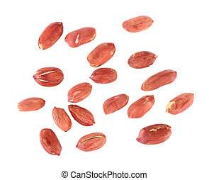 peanuts seeds isolated on white background