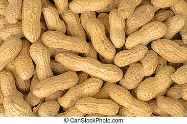 Peanuts - Stack of peanuts-useful background image.
