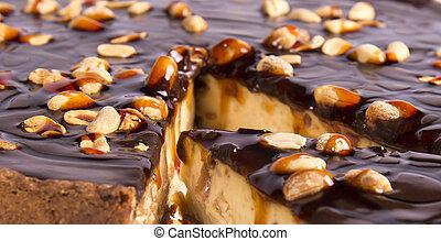 Peanuts tart cake