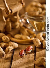 peanuts with sack and oil