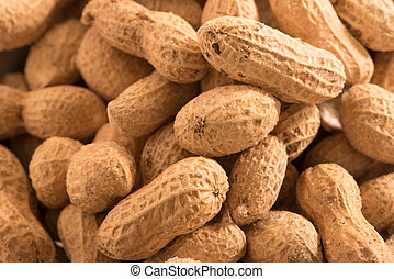 Peanuts with shell background
