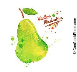 pear., 緑