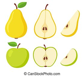 Pear and apple fruit set