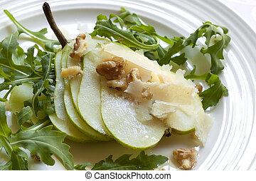 Pear and Arugula Salad - Classic salad with pear, arugula or...
