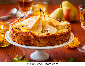 Pear cake for holiday - Pear cake for autumn holiday