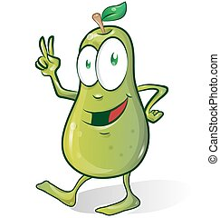 pear cartoon isolated on white background