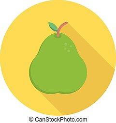 pear circle shadow flat icon