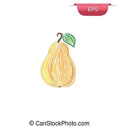 pear, design element, sketch