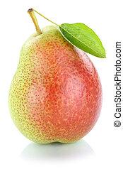 Pear fresh fruit isolated on white