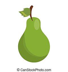 pear fresh fruit isolated