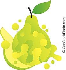 Pear fruit in abstract style