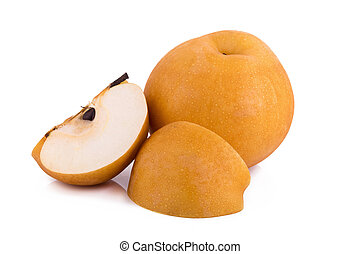 pear fruit over white background